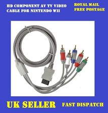 HD COMPONENT AV TV VIDEO CABLE FOR NINTENDO WII HIGH QUALITY GOLD PLATED