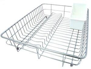 Delfinware Large Stainless Steel Dish Drainer & Cutlery Basket Sink Rack