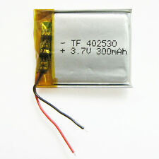 3.7V 300mAh li-polymer Rechargeable Battery For GPS NAV Mp3 bluetooth 402530