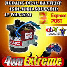 REDARC SBI212 DUAL BATTERY ISOLATOR CHARGER SOLINOID 12 VOLT 200 AMP 4WD CARAVAN