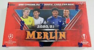 New 2020-21 Topps Chrome Merlin UEFA Champions League Europa Soccer Hobby Box
