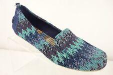 THE SAK Loafer Shoes Multi Color Blue Chevron Knit Flats Women's 8.5 Medium