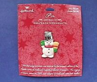 Hallmark PIN Christmas Vintage SNOWMAN THIMBLE of Ornament 1988 Holiday NEW