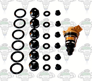 Ford Denso Side-Feed Injector Seals Filters Pintle Caps 6 Cylinders - Kit 179