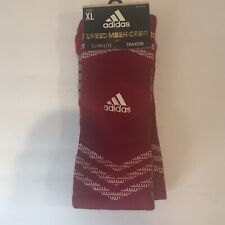 Adidas Speed Mesh Traxion Athletic Crew Socks, Mens Shoe Size 12-16 XL, Red