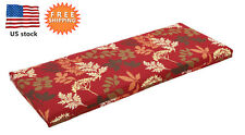 Bossima Outdoor/Indoor Bench Cushions Storage Box Seat Pad Furniture Red Floral
