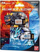 Digimon Vital Bracelet Dim Card Set Vol.1 Volcanic Beat & Blizzard Fang Japan