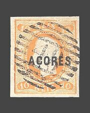 VINTAGE:AZORES-PORTUGAL 1868 USD LH  SCOTT #2 $10000 LOT #1868X300