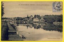cpa NANTES en 1930 (oire Atlantique) L'ERDRE au PORT GUICHARD Fernand LEFORT