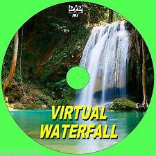 RELAX TO A VIRTUAL WATERFALL VIDEO DVD  FOR FLATSCREEN, PLASMA, LED TV/PC NEW