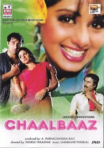 CHAALBAAZ -Sunny Deol, Rajanikant, Sridevi - NEW BOLLYWOOD DVD - MULTI SUBTITLES