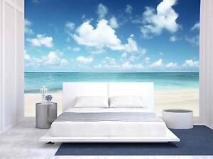Wall26 - Sand of Beach Caribbean Sea - Wall Mural Home Decor - 100x144 inches