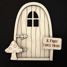 Wooden Fairy Elf Pixie Door Shape Blank Craft Kit plus accessories -Elandorr V1