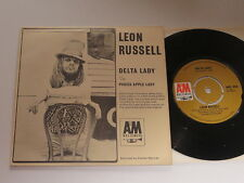 "Leon Russel Delta Lady / Oisces Apple Lady  UK A&M  7""   Rare Picture Sleeve"