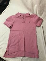 Ralph Lauren Boys Polo  Pink Solid short sleeve Shirt Size S Small 8