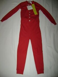 Hanna Andersson Red Organic Butt Flap Union Suit size 100 NWT
