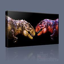 DINOSAURS POWERFUL JURASSIC T REX ICONIC CANVAS ART PRINT PICTURE - Art Williams