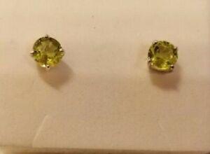 Sterling silver & peridot stud earrings
