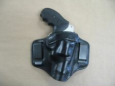S&W Revolver J Frame 2 Clip IWB Leather Concealed Carry Holster CCW BLACK RH
