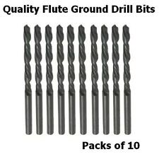 10x HSS Flute Ground Drill Bits High Quality Professional Precision Jobber