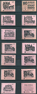 1971-73 QEII Decimal 25p Stitched Booklets DH39-52