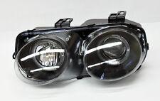 Black Projector Halo Angel Eyes Headlights for Acura Integra 98-01
