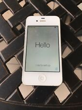 APPLE IPHONE 4S A1387 16GB WHITE VERY GOOD CONDITION -POWER SWITCH NOT WORKING