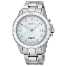 Seiko SKA881 Ska881p1 Ladies Sportura Kinetic Diamond Watch Wr100m