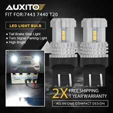 AUXITO 7443 7440 T20 High Power White LED Turn Signal DRL Tail Backup Light Bulb