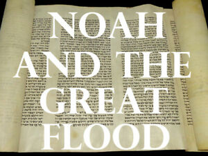 "TORAH BIBLE MANUSCRIPT FRAGMENT 100 YRS OLD EUROPE Genesis ""Noah & the Flood"""