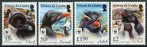 Tristan da Cunha Birds on Stamps 2017 MNH Rockhopper Penguin Penguins WWF 4v Set