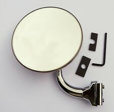 "Quarterlight Clamp-On Classic Car Circular 4"" Overtaking Mirror for MG Triumph"