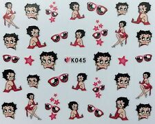 Nail Art 3D Decal Stickers Betty Boop Stars Sunglasses Shades Glam K045