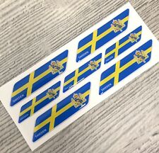 Sweden flag Coat of Arms 3d domed emblem decal sticker BMW Ferrari VOLVO VW