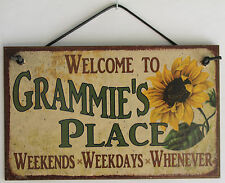 Grammie s Sign Place House Welcome Love Grandma Mom Grand Parent Mother Best #1