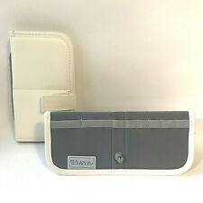 Pair of Real Techniques White Travel Makeup Brush Case, by Sam & Nic, Stands Up