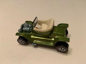 1968 Hot Wheels Redline Hot Heap Lime White Interior Vintage Diecast Car