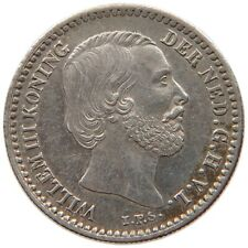 NETHERLANDS 10 CENTS 1881 TOP #t83 047