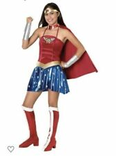 Wonder Woman Halloween Costume - Teen/Young Adult Size 2-6 - Brand New