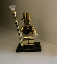 Series 10 Mr Gold custom Minifigure. Compatible  with Leading Brands