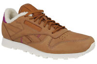 Mens Shoes Reebok Classic AP Leather Casual Trainers V67026 Tan Brown Off White