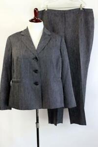 LE SUIT PANT SUIT Dark Blue MODERN Blazer Jacket Business Career PLUS 3X 22W
