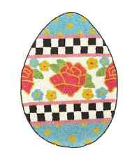 """MacKenzie-Childs Spring/Easter Egg Hunt Glass Beaded Placemat-11.25"""" x 15.5"""""""