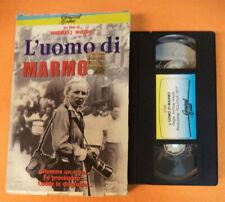 VHS CARTONATA film L'UOMO DI MARMO 2000 Andrzej Wajda GENERAL VIDEO(F127) no dvd