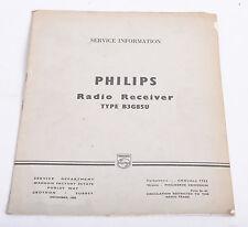 VINTAGE SERVICE MANUAL - PHILIPS B3G 85U RADIO RECEIVER