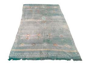 Antique Moroccan Kilim, Decorative Vintage Kilim, Silk Kilim, Area Rug