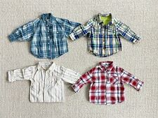 Lot of 4 toddler boy button-down shirts, Children's Place, Genuine Kids 18-24 mo