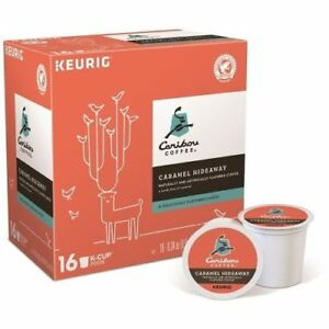 Caribou Caramel Hideaway Coffee 16 to 112 Count Keurig K cups Pick Any Quantity
