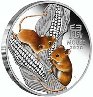 Year of The Mouse 1 oz Proof Silver Coin  Colored Australia 2020  by Perth Mint