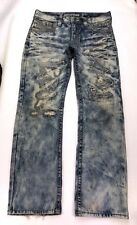 F13 Affliction Jeans Jake Distressed Destroyed Bootcut Legacy sz 34 (35x34) Long